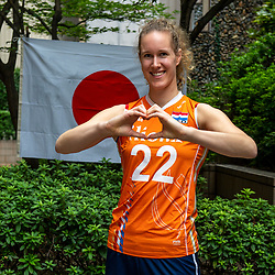 13-10-2018 JPN: World Championship Volleyball Women day 14, Nagoya<br /> Portraits Dutch Volleybal Team - Nicole Koolhaas #22 of Netherlands