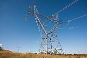 Sao Jose da Barra_MG, Brasil...Torres de transmissao da hidreletrica de Furnas...Transmission towers of Furnas hydroelectric plant...Foto: LEO DRUMOND / NITRO