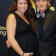 NLD/Amsterdam/20121019- Televiziergala 2012, zwangere Jessica Mendels en partner Wilcher van der Laan