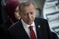 "Turkish President Recep Tayyip Erdogan arrives for a meeting on ""World Economy"" at the G20 Osaka Summit in Osaka, Japan on June 28, 2019.Photo by Eliot Blondet/ABACAPRESS.COM"