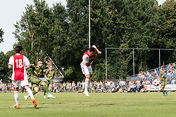 Karlo Bartolec of FC Nordsjælland (2L) scores during the friendly match between Ajax Amsterdam and FC Nordsjaelland  on July 7, 2018 at Sportpark Putter Eng in Putten, The Netherlands