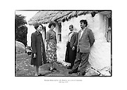 Brendan Behan and his wife, Beatrice, on a visit to Connemara, County Galway.<br /> <br /> 10th June 1959<br /> 10/06/1959