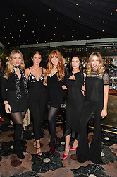 Left to right, SOFIA TILBURY, MILLIE MACKINTOSH, CHARLOTTE TILBURY, ROXIE NAFOUSI and EMMA LOUISE CONNOLLY at a dinner hosted by Charlotte Tilbury at Annabel's, 44 Berkeley Square, London on 23rd November 2016