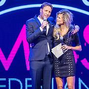 NLD/Hilversum/20160926 - Finale Miss Nederland 2016, Kim Kötter en Victor Brand
