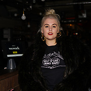 London, England, UK. 1st December 2017. Felicity Hayward is a plus size model attends Sagaboi Magazine: Men's Style 2017 - book launch held at WeWork Old Street.
