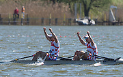 Brandenburg. GERMANY. CRO M2X. Bow. Martin SINKOVIC and Valent SINKOVIC, Final Men's Double Sculls at the <br /> 2016 European Rowing Championships at the Regattastrecke Beetzsee<br /> <br /> Sunday  08/05/2016<br /> <br /> [Mandatory Credit; Peter SPURRIER/Intersport-images]