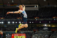 LONDON OLYMPIC GAMES 2012 - OLYMPIC STADIUM , LONDON (ENG) - 04/08/2012 - PHOTO : JULIEN CROSNIER / KMSP / DPPI<br /> ATHLETICS - MEN'S LONG JUMP - GREG RUTHERFORD (GBR) / GOLD MEDAL