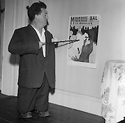 Brendan Behan, Actor, in the guise of Toulouse Lautrec..10.08.1960