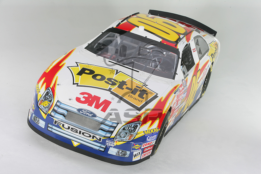 Concord, NC - Jan 10, 2006:  The No 06 3M Post-It Ford is photographed at D3 Studios in Concord, NC.