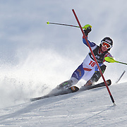 Rahel Kopp, Switzerland, in action during the Women's Slalom event during the Winter Games at Cardrona, Wanaka, New Zealand, 24th August 2011. Photo Tim Clayton...