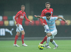 Daniel Norouzi (FC Helsingør) under kampen i 1. Division mellem Silkeborg IF og FC Helsingør den 21. november 2020 i JYSK Park (Foto: Claus Birch).