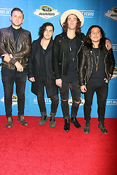 American Authors attending the 2016 NASCAR Sprint Cup Series Awards