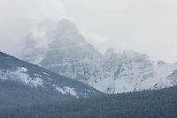 Wenkchemna Peaks in winter, Banff National Park Alberta Canada