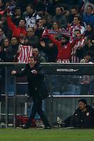 31.01.2013 SPAIN - Copa del Rey 12/13 Matchday 1/4  match played between Atletico de Madrid vs Sevilla Futbol Club (2-1) at Vicente Calderon stadium. The picture show  Diego Pablo Simeone coach of Atletico de Madrid