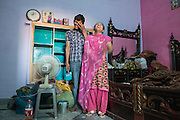 Joseph Colony 20. Chand Pervez with his beloved Mehak Francis, painting her house. They got married in April 2013.