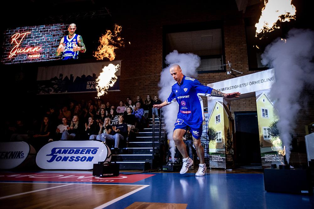 ÖSTERSUND 20211007<br /> Jämtlands RT Guinn under torsdagens match i basketligan mellan Jämtland Basket och Norrköping Dolphins.<br /> Foto: Per Danielsson / Projekt.P