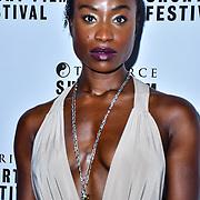 Adele Oni attend TriForce Short Festival, on 30 November 2019, at BFI Southbank, London