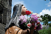 St. Terea with flowers, St. Teresa Roman Catholic Church.