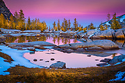 Sunrise at Gnome Tarn in the Enchantments Lakes wilderness