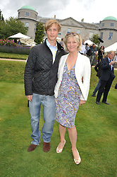 The HON.WILLIAM GORDON-LENNOX and his mother the COUNTESS OF MARCH & KINRARA at a luncheon hosted by Cartier for their sponsorship of the Style et Luxe part of the Goodwood Festival of Speed at Goodwood House, West Sussex on 1st July 2012.