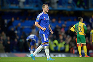 John Terry, the Chelsea captain celebrates the win after the final whistle. Barclays Premier league match, Chelsea v Norwich city at Stamford Bridge in London on Saturday 21st November 2015.<br /> pic by John Patrick Fletcher, Andrew Orchard sports photography.