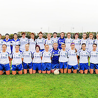 7 November 2010; The West Clare Gaels squad. Tesco All-Ireland Intermediate Ladies Football Club Championship Semi-Final, West Clare Gaels, Clare v St Patricks Dromahair, Leitrim, Doonbeg, Co. Clare. Picture credit: Alan Place / SPORTSFILE *** NO REPRODUCTION FEE ***