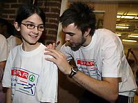 Photo: Rich Eaton.<br /> <br /> SPAR Sprint Masterclass in Birmingham. 18/01/2007. Martyn Rooney pictured at a Spar Masterclass in Birmingham signing Tshirts