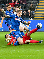 Football - 2018 / 2019 Sky Bet EFL Championship - Swansea City vs. Bolton Wanderers<br /> <br /> Remi Matthews of Bolton Wanderers dives in a goalmouth scramble, at The Liberty Stadium.<br /> <br /> COLORSPORT/WINSTON BYNORTH
