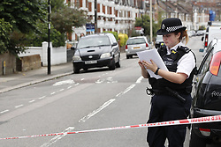 © Licensed to London News Pictures. 18/08/2018. Catford, UK. The scene where a man in his 50's has been stabbed to death In Catford, South London . Photo credit: Peter Macdiarmid/LNP