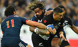 New Zeland 's Sonny Bill Wiliams during a rugby union international match at Stade de France stadium in Saint Denis, outside Paris, France, Saturday, Nov. 11, 2017Photo by Christian<br /> Liewig/ABACAPRESS.COM