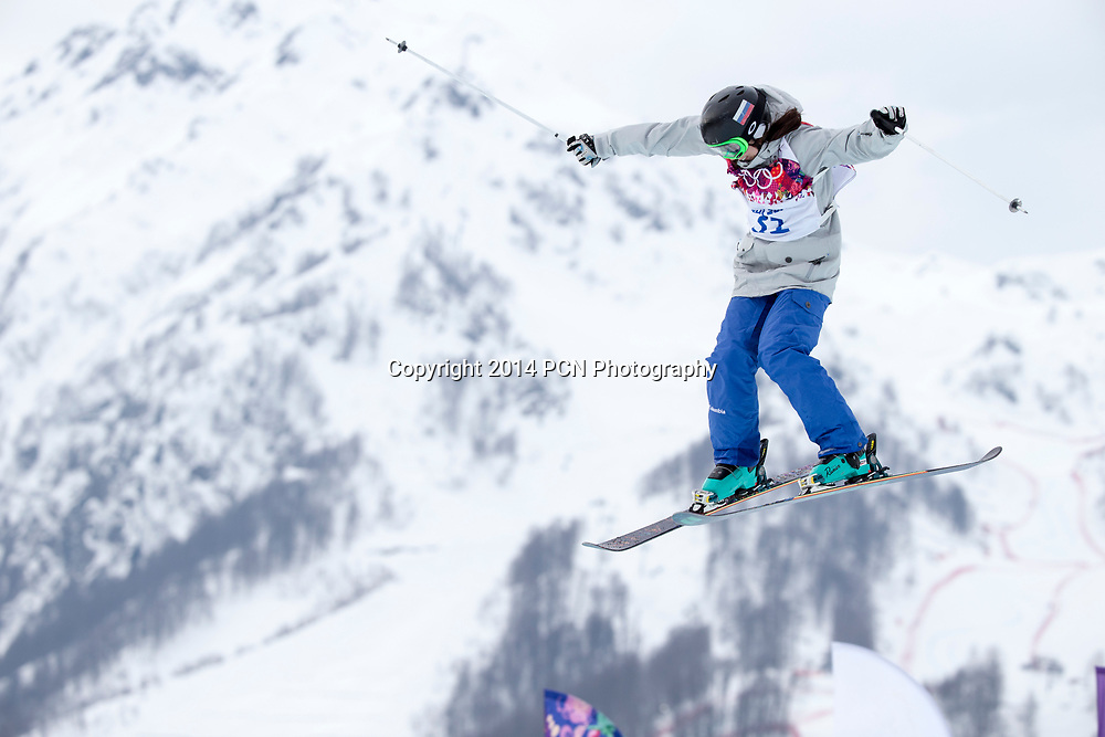 Anna Mirtova (RUS) competing in the Ladies' Ski Slopestyle at the Olympic Winter Games, Sochi 2014