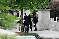 Kim Kardashian West ( 2nd R) leaves the West wing of the White House after meeting with officials, including senior adviser Jared Kushner, to discuss prison reform on May 30, 2018 in Washington, DC. Photo by Olivier Douliery/ Abaca Press