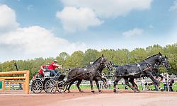 Georg Von Stein, (GER), Joy, Lando, Nautilus, Nico T, Odin - Driving Marathon - Alltech FEI World Equestrian Games™ 2014 - Normandy, France.<br /> © Hippo Foto Team - Jon Stroud<br /> 06/09/2014