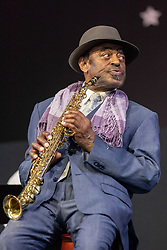 May 3, 2018 - New Orleans, Louisiana, U.S - ARCHIE SHEPP during 2018 New Orleans Jazz and Heritage Festival at Race Course Fair Grounds in New Orleans, Louisiana (Credit Image: © Daniel DeSlover via ZUMA Wire)