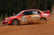 Juha Kangas (FIN) & Julia Rabbett.Mitsubishi Lancer Evo VII.2003 Rally of Canberra .Canberra, ACT, Australia.25-27th of April 2003.(C) Joel Strickland Photographics