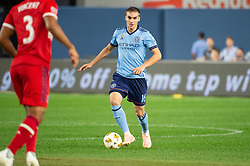 September 26, 2018 - Bronx, New York, US - New York City FC midfielder JAMES SANDS (16) during a regular season match at Yankee Stadium in Bronx, New York.  New York City FC defeats Chicago Fire 2 to 0 (Credit Image: © Mark Smith/ZUMA Wire)