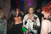 YASEMINA RAHMAN; ROSE LANGLEY; CAROLE HAYMAN, Stephen Webster: 7 Deadly Sins And No Regrets - launch party, Old Vic Tunnels (formerly Leake Street Tunnel), Waterloo, London SE1, 8 December 2010. DO NOT ARCHIVE-© Copyright Photograph by Dafydd Jones. 248 Clapham Rd. London SW9 0PZ. Tel 0207 820 0771. www.dafjones.com.