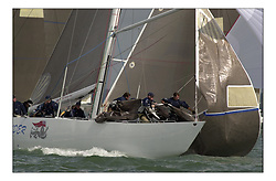 12 Metre Racing, at the Americas Cup Jubilee in Cowes..The last British campaigner Crusader...Marc Turner / PFM.