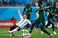 Argentina defender Nicolas Tagliafico (L) and Nigeria midfielder Wilfred Ndidi (R) during the 2018 FIFA World Cup Russia, Group D football match between Nigeria and Argentina on June 26, 2018 at Saint Petersburg Stadium in Saint Petersburg, Russia - Photo Stanley Gontha / Pro Shots / ProSportsImages / DPPI