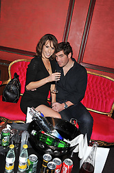 ALEX JONES and CHARLIE THOMSON at the 39th birthday party for Nick Candy in association with Ciroc Vodka held at 5 Cavindish Square, London on 21st Januatu 2012.