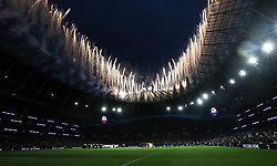 File photo dated 03-04-2019 of A fireworks display ahead of kick off during the Premier League match at The Tottenham Hotspur Stadium, London.