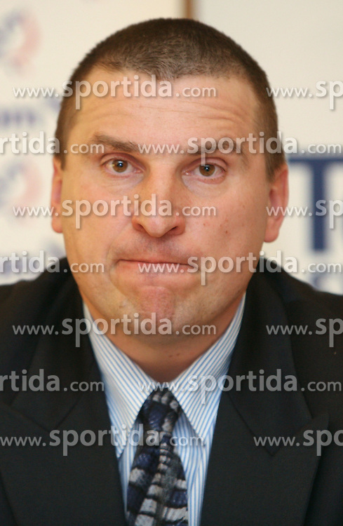 Igor Primc when Athletic Federation of Slovenia (AZS) and top Slovenian athletes sign a contract of sponsorship, on February 14, 2008 in M-Hotel, Ljubljana, Slovenia. (Photo by Vid Ponikvar / Sportal Images)