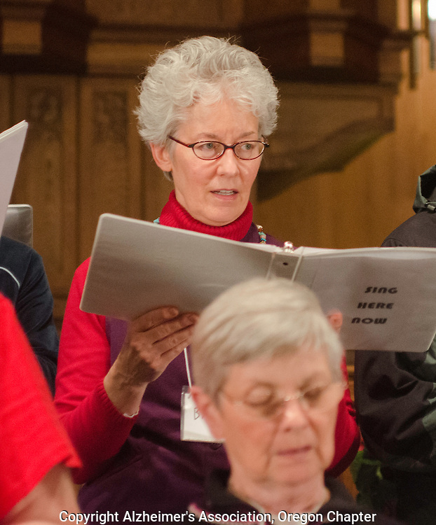 People with Alzheimer's sing in a holiday choir