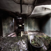An abandoned bath at Manor House B