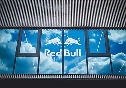 30.06.2018, Red Bull Ring, Spielberg, AUT, FIA, Formel 1, Grosser Preis von Österreich, Qualifying, im Bild Red Bull Logo mit Spiegelung von Wolken in den Glasscheiben // Red Bull logo with reflection of clouds in the glass during Qualifying of the Austrian FIA Formula One Grand Prix at the Red Bull Ring in Spielberg, France on 2018/06/30. EXPA Pictures © 2018, PhotoCredit: EXPA/ JFK