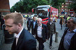 June 7, 2017 - London, London - London, UK. JEREMY CORBYN arrives at Union Chapel in his own constituency to  speak at his last rally before Britain heads to the polls for the General Election. (Credit Image: © Rob Pinney/London News Pictures via ZUMA Wire)