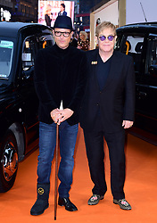 Matthew Vaughn and Elton John attending the World Premiere of Kingsman: The Golden Circle, at Cineworld in Leicester Square, London. Picture Date: Monday 18 September. Photo credit should read: Ian West/PA Wire