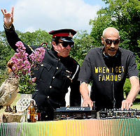 Barry Ashworth and Leeroy Thornhill at the launch party for  the Mucky Weekender Festival.,taking place 10-11 September at the Vicarage Farm, Winchester.photo by Dawn Fletcher Park