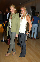 Left to right, sisters FIONA SCARRY and OLYMPIA SCARRY at a party at The Sanderson Hotel on 9th June 2005 to launch 50 Gramercy Park North - Ian Schrager's show-stopping new residential project in New York City. Schrager, with the help of UK architect John Pawson, is building a block of 23 original residences facing Gramercy Park, inbetween two blocks of the Gramercy Park Hotel. <br /><br />NON EXCLUSIVE - WORLD RIGHTS