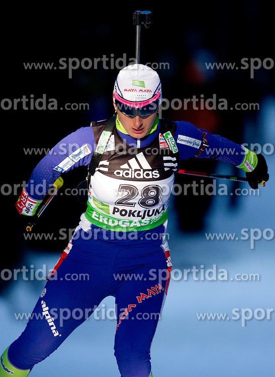 Tadeja Brankovic Likozar of Slovenia during the Women 15 km Individual of the e.on IBU Biathlon World Cup on Thursday, December 16, 2010 in Pokljuka, Slovenia. The fourth e.on IBU World Cup stage is taking place in Rudno Polje - Pokljuka, Slovenia until Sunday December 19, 2010.  (Photo By Vid Ponikvar / Sportida.com)